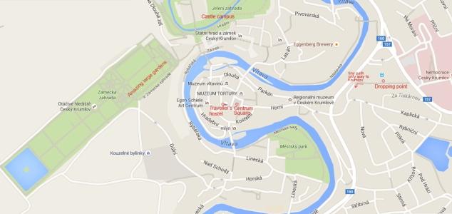 Map Cesky Krumlov