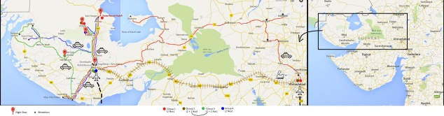 Guj trip Map